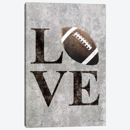 LOVE Football Canvas Print #SUB19} by Susan Ball Canvas Art Print