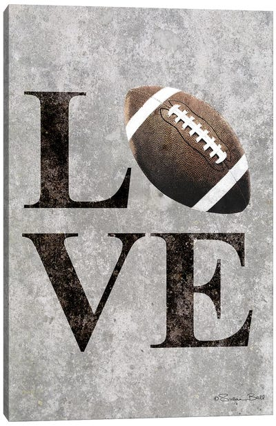 LOVE Football Canvas Art Print