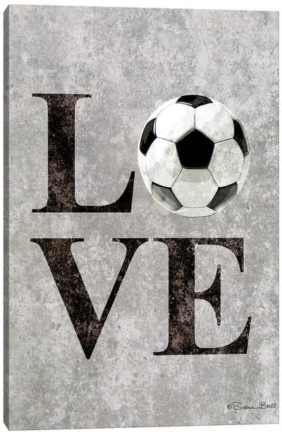 LOVE Soccer Canvas Art Print