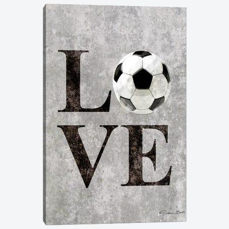 LOVE Soccer Canvas Print #SUB20} by Susan Ball Canvas Wall Art