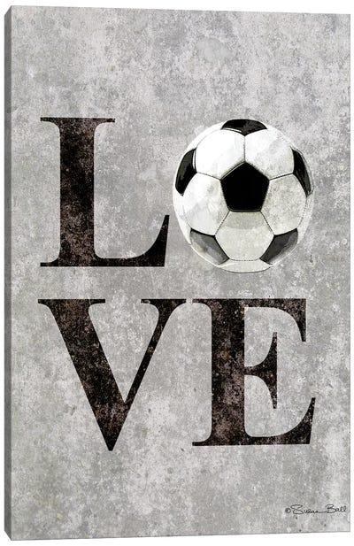 LOVE Soccer Canvas Art Print