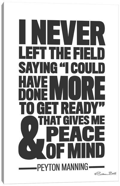 Peyton Manning Quote Canvas Art Print
