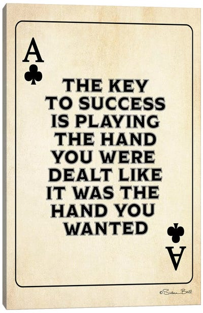 Ace of Clubs Canvas Art Print