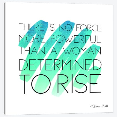 Determined to Rise Canvas Print #SUB2} by Susan Ball Canvas Art Print