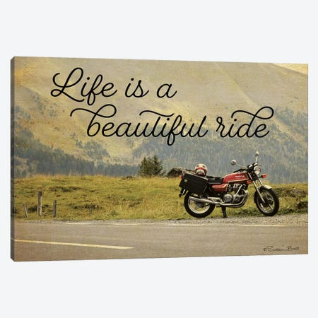 Life is a Beautiful Ride 3-Piece Canvas #SUB34} by Susan Ball Canvas Artwork