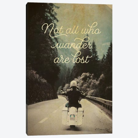Not All Who Wander Canvas Print #SUB37} by Susan Ball Canvas Wall Art