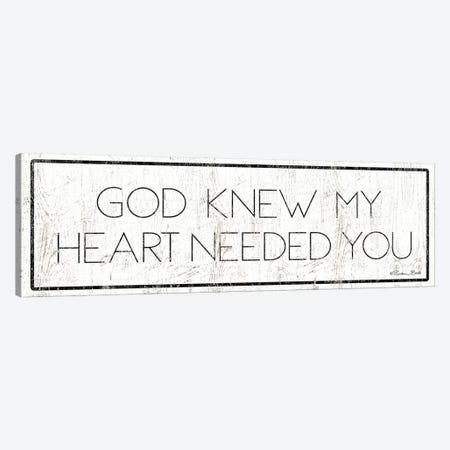 God Knew My Heart Needed You Canvas Print #SUB42} by Susan Ball Canvas Artwork