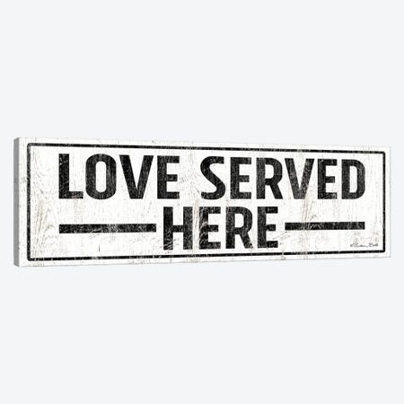 Love Served Here Canvas Print #SUB48} by Susan Ball Canvas Wall Art
