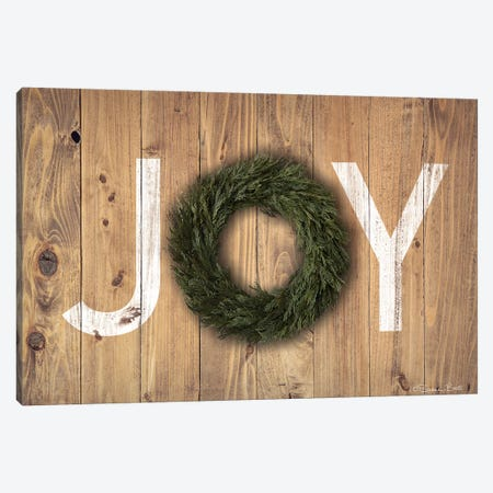 Joy Cedar Wreath Canvas Print #SUB56} by Susan Ball Canvas Artwork