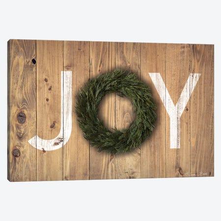 Joy Cedar Wreath Canvas Print #SUB56} by Susan Ball Canvas Artwork