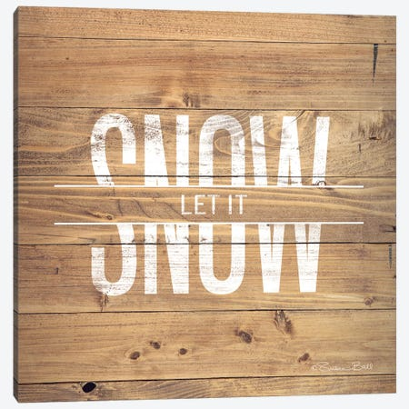 Let It Snow Canvas Print #SUB58} by Susan Ball Canvas Art Print