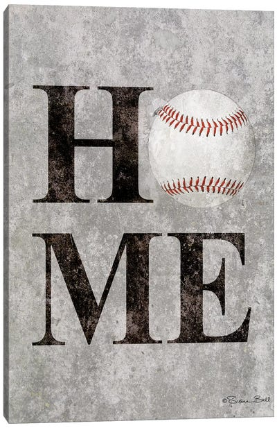 Baseball HOME Canvas Art Print