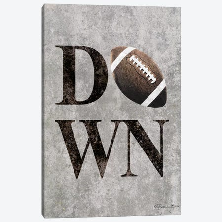 Football DOWN Canvas Print #SUB65} by Susan Ball Art Print