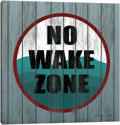 No Wake Zone  Canvas Art Print