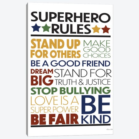 Superhero Rules Canvas Print #SUB73} by Susan Ball Canvas Art Print