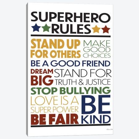 Superhero Rules Canvas Print #SUB73} by Susan Ball Canvas Art Print