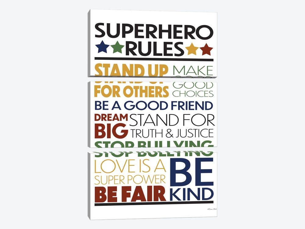 Superhero Rules by Susan Ball 3-piece Canvas Art Print