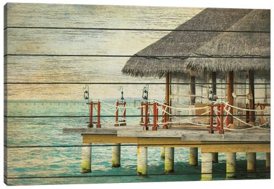 Vintage Beach Hut  Canvas Art Print
