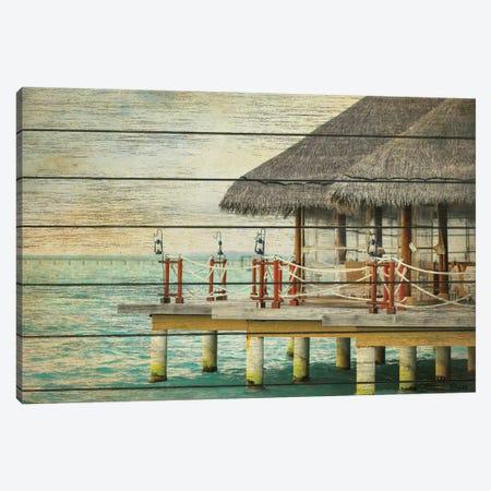 Vintage Beach Hut  Canvas Print #SUB74} by Susan Ball Canvas Wall Art