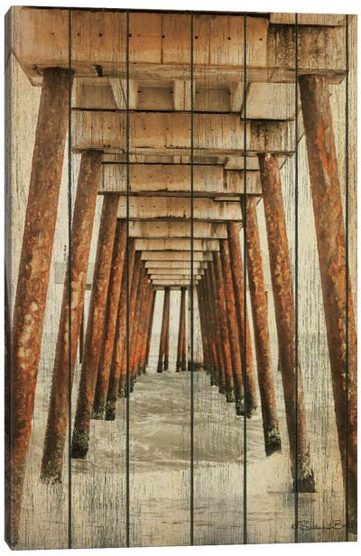 Vintage Under Dock  Canvas Art Print