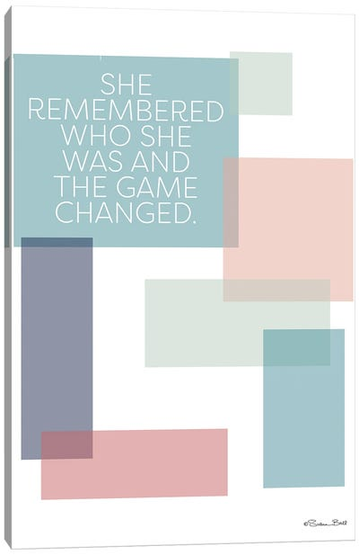 Game Changed Canvas Art Print