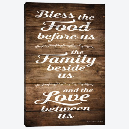 Bless the Food Before Us Canvas Print #SUB91} by Susan Ball Art Print