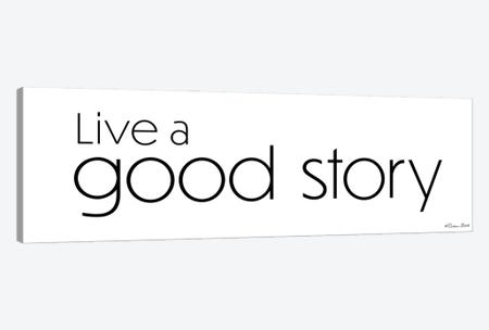 Live a Good Story Canvas Print #SUB96} by Susan Ball Canvas Wall Art