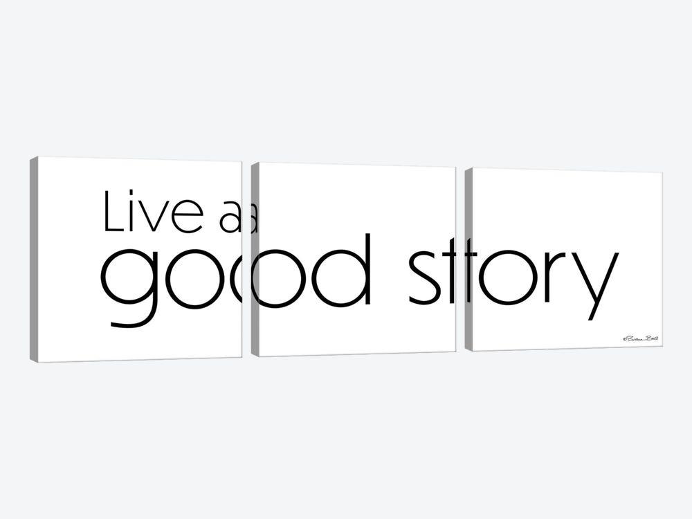 Live a Good Story by Susan Ball 3-piece Canvas Wall Art