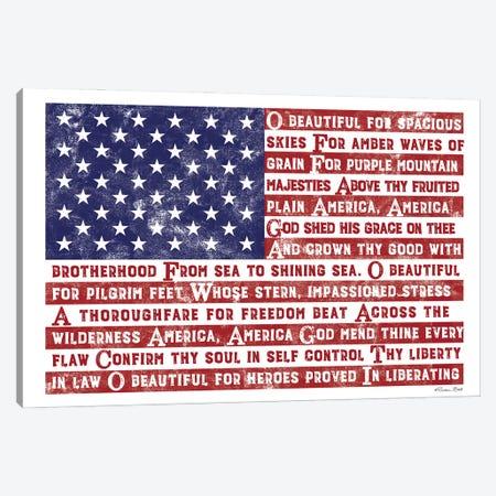 America the Beautiful Flag Canvas Print #SUB98} by Susan Ball Canvas Print
