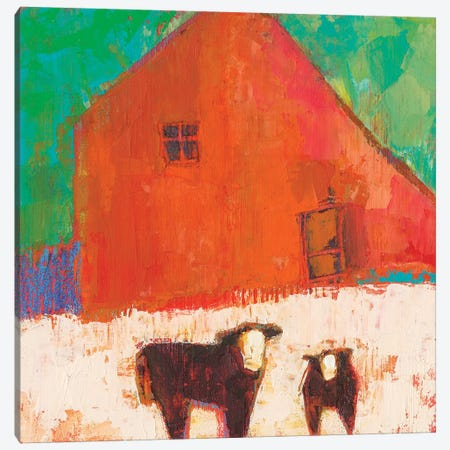 Baraboo Barn Canvas Print #SUE147} by Sue Jachimiec Canvas Art