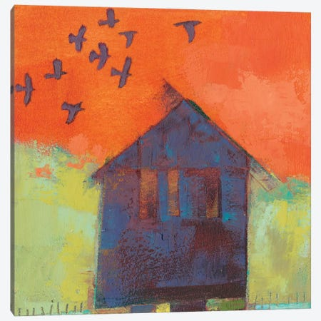 Bird Barn II Canvas Print #SUE152} by Sue Jachimiec Canvas Artwork