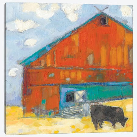 Schullsburg Barn Canvas Print #SUE173} by Sue Jachimiec Canvas Art