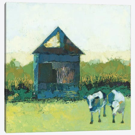 Crooked Cow Barn Canvas Print #SUE182} by Sue Jachimiec Canvas Print