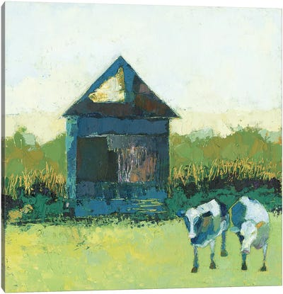 Crooked Cow Barn Canvas Art Print