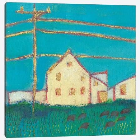 Fon Barn I Canvas Print #SUE185} by Sue Jachimiec Canvas Wall Art