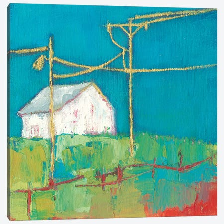 Fon Barn III Canvas Print #SUE187} by Sue Jachimiec Canvas Wall Art