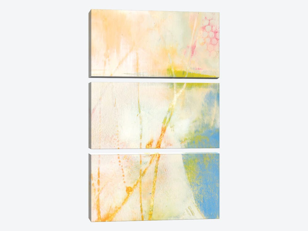 Pastel Lux II by Sue Jachimiec 3-piece Canvas Print