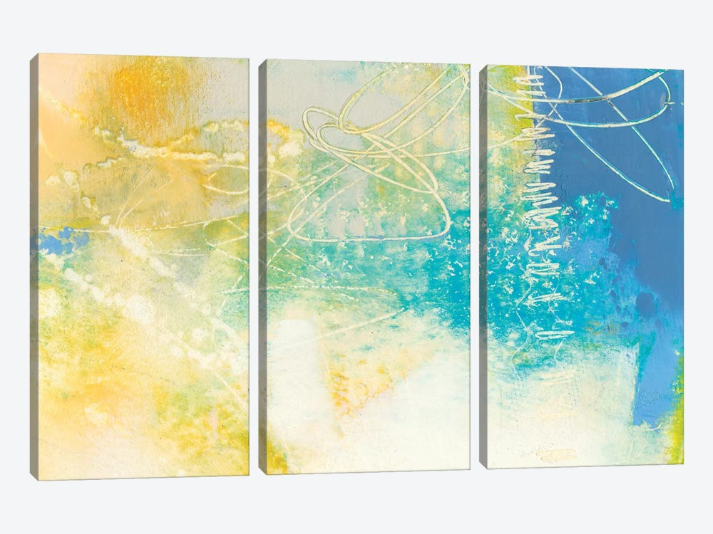 Blue Lux I by Sue Jachimiec 3-piece Canvas Wall Art