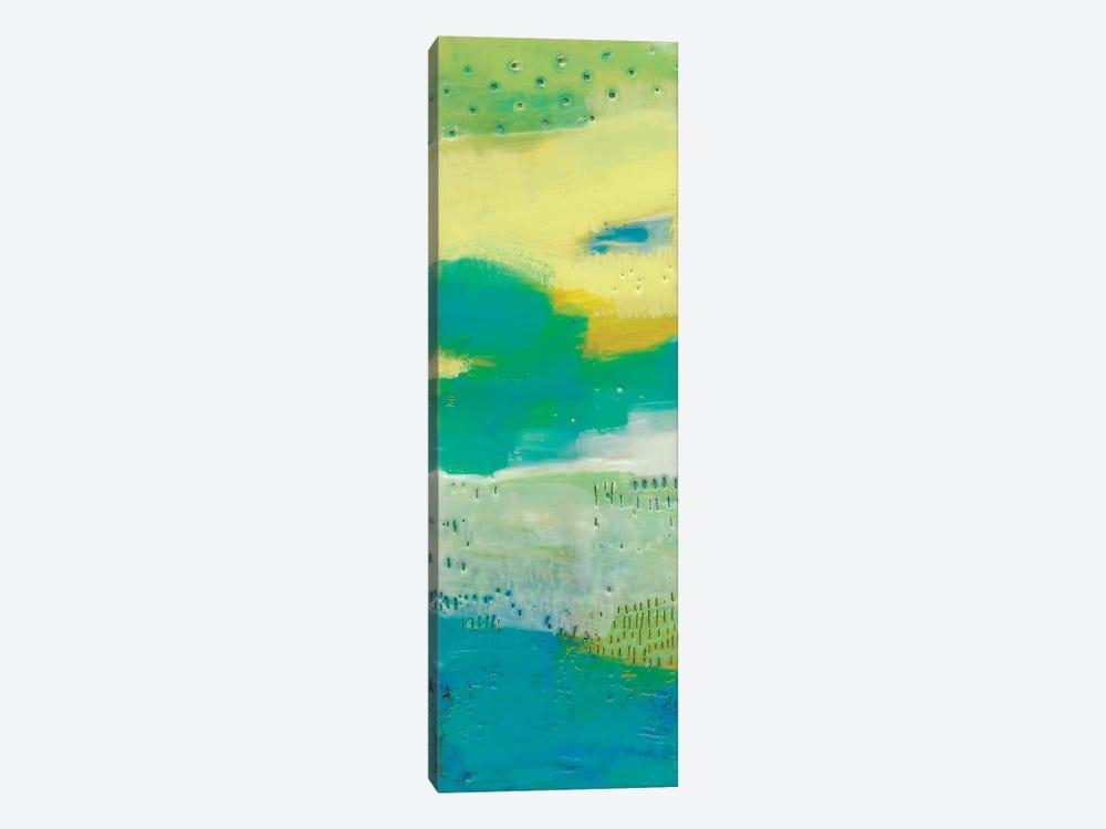 Teal Dot Panels I by Sue Jachimiec 1-piece Canvas Art