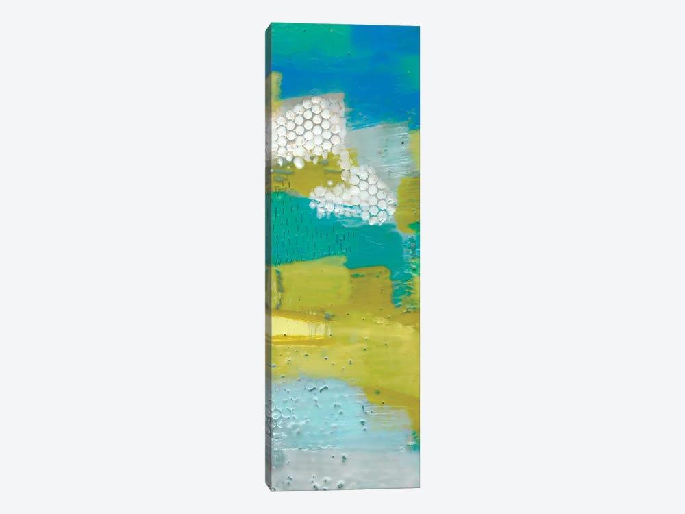 Teal Dot Panels II by Sue Jachimiec 1-piece Canvas Print