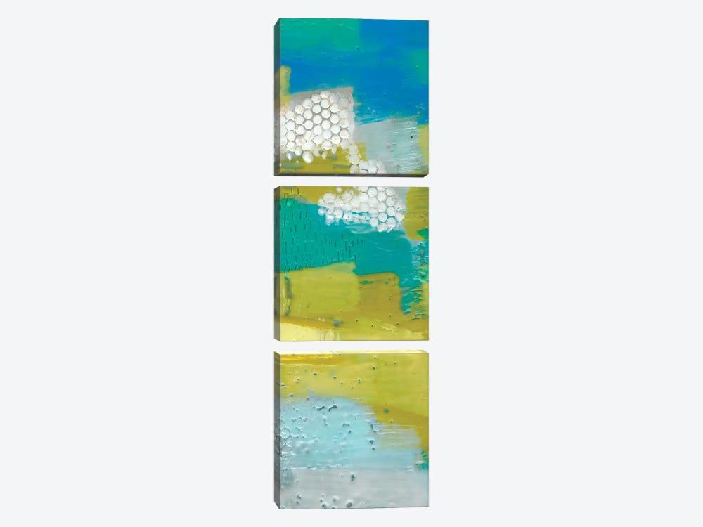 Teal Dot Panels II by Sue Jachimiec 3-piece Canvas Print