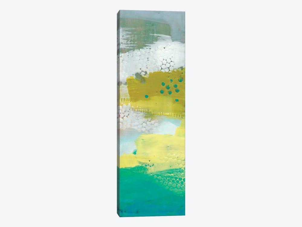 Teal Dot Panels III by Sue Jachimiec 1-piece Canvas Artwork