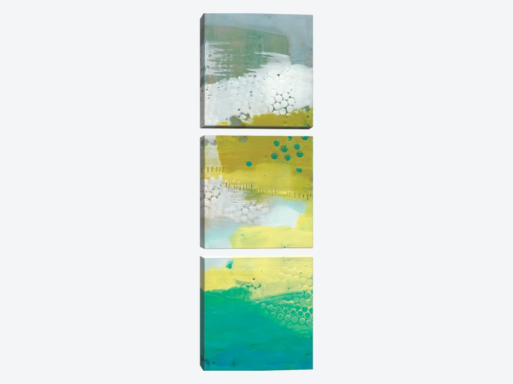 Teal Dot Panels III by Sue Jachimiec 3-piece Canvas Artwork