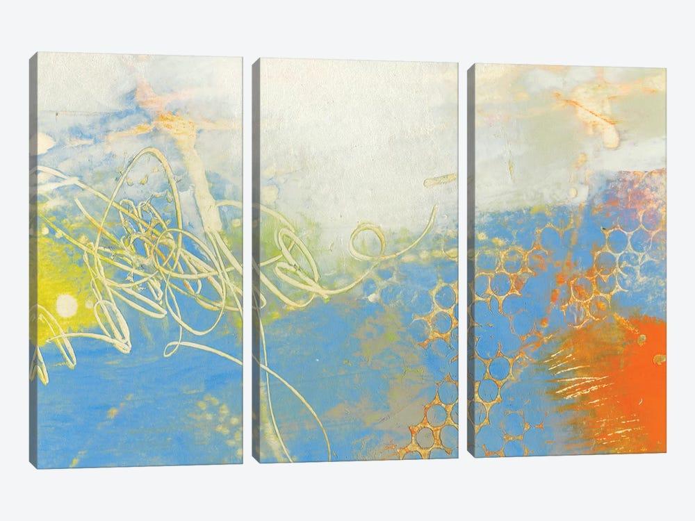 Blue Lux II by Sue Jachimiec 3-piece Canvas Print