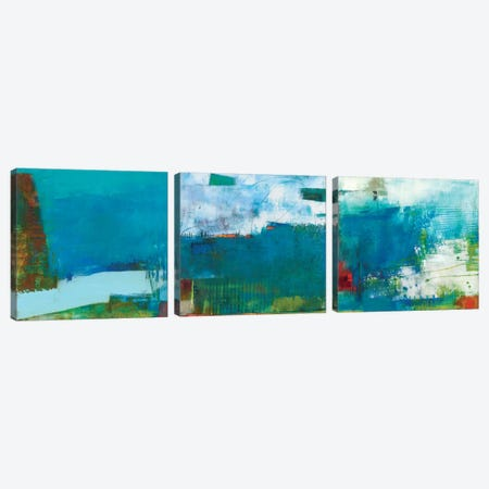 Hey Day Triptych Canvas Print Set #SUE3HSET001} by Sue Jachimiec Canvas Wall Art