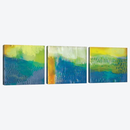 Southern Shores Triptych Canvas Print Set #SUE3HSET002} by Sue Jachimiec Canvas Artwork