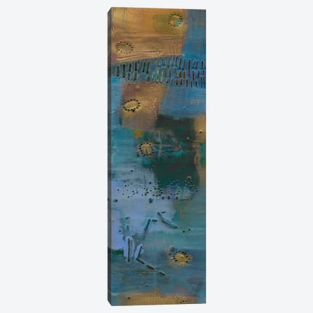 Reedy Blue I Canvas Print #SUE79} by Sue Jachimiec Canvas Artwork