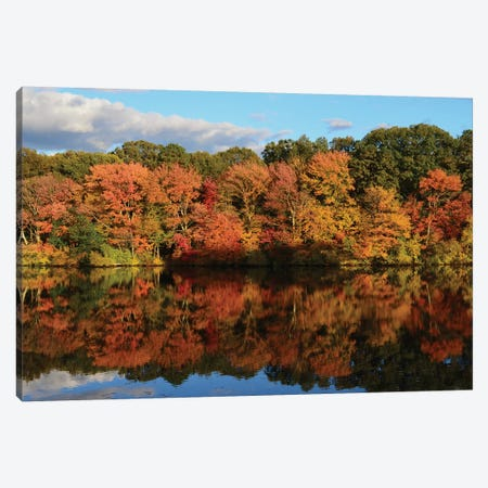 Autumn Reflection Canvas Print #SUM1} by Suzanne Melanson Canvas Artwork