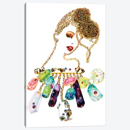 Gemmed Chains Canvas Print #SUN14} by Sunny Gu Canvas Wall Art