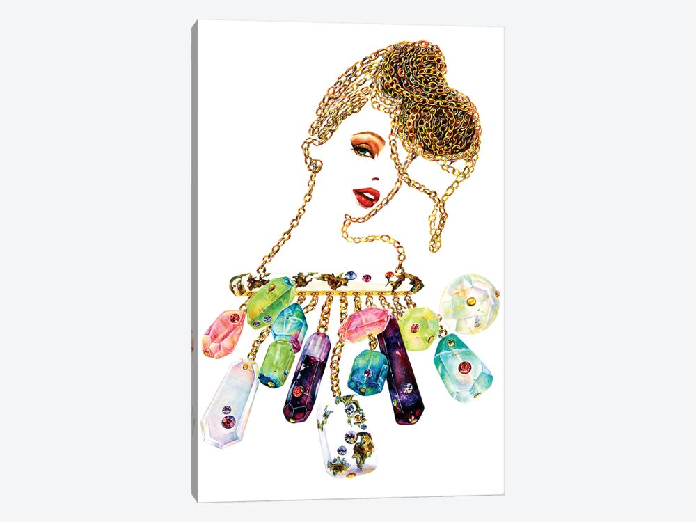 Gemmed Chains by Sunny Gu 1-piece Canvas Artwork